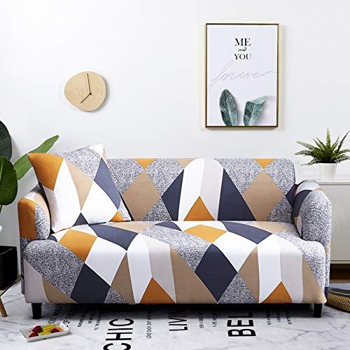 WXQY Funda de sofá Funda de Muebles elástica Funda de sofá elástica, Funda de sillón para Sala de Estar, Funda de sofá antiincrustante Todo Incluido A19 2 plazas