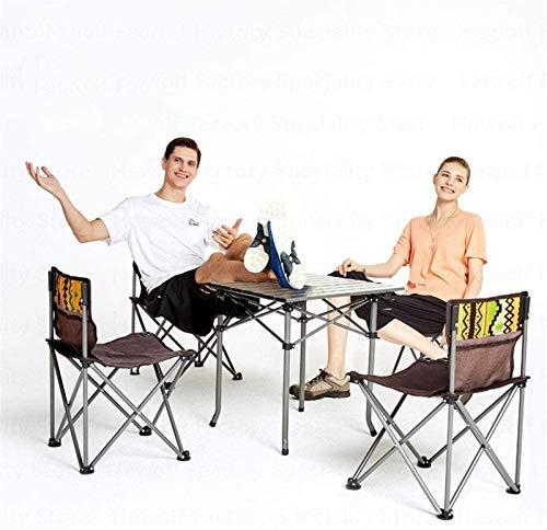 CWT plegable silla de conferencia sillas de pesca al aire libre Camping mesa Sillas portátil picnic conveniente sillas plegables 4 sillas al aire libre pesca playa