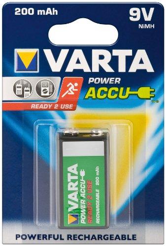 Varta 56722 Pile Ni-Mh rechargeable prête à l'emploi 9 V 200 mAh Lot de 8