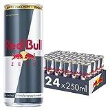 Red Bull Energy Drink, Zero Calorie, 250 ml (24 Lattine)...