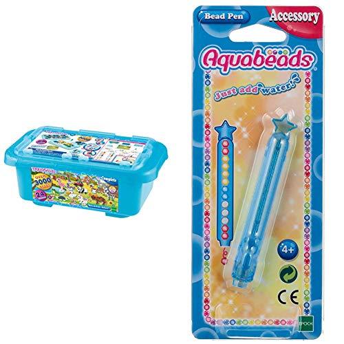 Aquabeads Box of Fun Caja de diversión Safari, Multicolor, Talla única (AB32808), Color/Modelo Surtido + Bead Pen Accessory, Multicolor (para Imaginar Ab31338)
