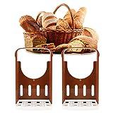 Bicaquu Cortador de Pan Ajustable, Herramienta para Cortar Pan marrón Plegable, Cocina Antideslizante para la Tienda de Pan casera para rebanar Pan, Tostadas, Bagel