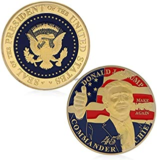 Non-currency Coins - Donald Trump Commemorative Challenge Coin 45th President The United States Gift - Coin Shirt President P10 Collect Cable Trump Trump Trump Band Trump Trump Grey Tshirt Sh
