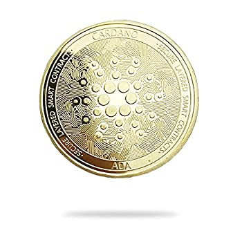 Cardano ADA   Secure Layered Smart Contracts   Cryptocurrency Virtual Currency   Gold Plated Challenge Art Coin   Bitcoin