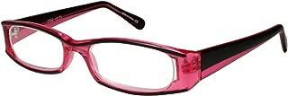 Edge I-Wear Classic Rectangular Rx-Able Plastic Reading Glasses for Women Readers Men 2.00 3762TT-+2.00-6(CL PK)