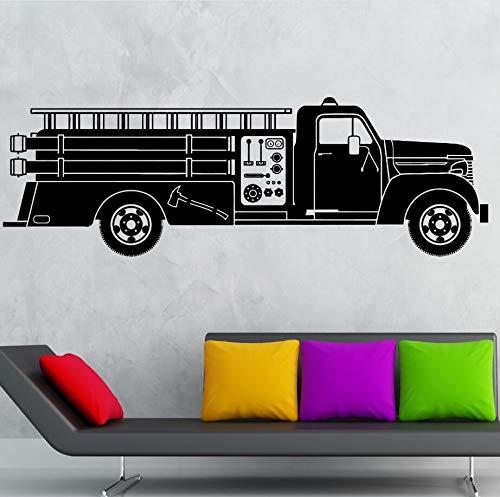 yaonuli fotobehang vinyl muurschildering brandweerman vrachtwagen muursticker kinderkamer decoratie brandweerman