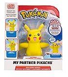 Boti 35667 My Partner Pokémon Pikachu, ca. 10 cm groß, interaktiv, reagiert auf Berührung und bewegt Arme und Ohren, mit Entdeckungs-und Trainingsmodus, gelb