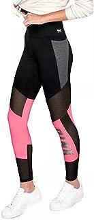 Victoria's Secret Pink Flat Mesh Bling Pocket Leggings Sequins, Black-Pink-Bling, Small