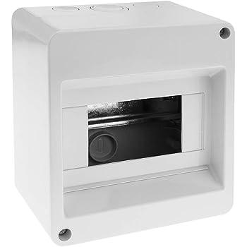 BeMatik - Caja de Superficie de automatismos eléctricos para 6 módulos de 18 mm de plástico ABS: Amazon.es: Electrónica