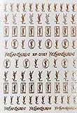 Nail Art Stickers Autocollants Autocollants À Ongles En Or Rose Logo De La Marque Autocollants À Ongles 3D Diy-C