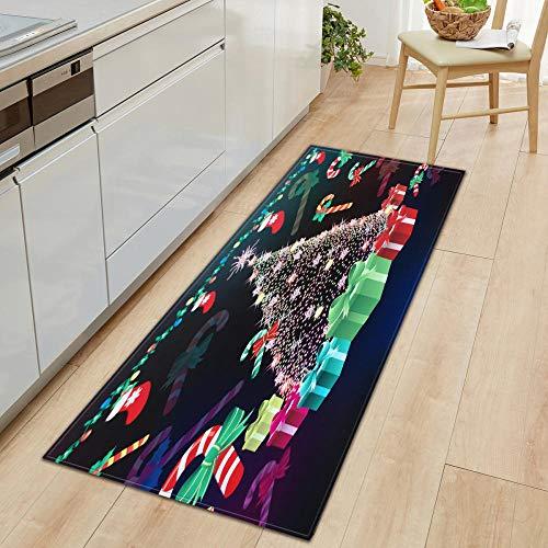 XIAOZHANG kitchen floor mat Creative texture Crystal velvet door mat indoor outdoor carpet corridor floor bedroom living room study rugs Non-slip absorbent 60x90CM