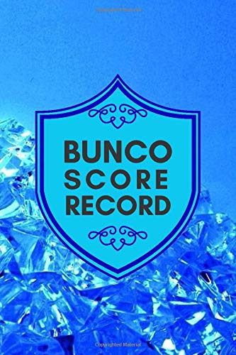 Bunco Score Record: Bunco Score Sheets, Bunco Scorebook, Bunco Score Pads, Scorekeeping Book, Scorecards, Record Scorekeeper Book Gifts for Fans, Game ... Thanksgiving, Vacation, with 110 Pages.