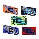 WEEYEE - Fascia da capitano da calcio per adulti e giovani, 5 confezioni di colori, fascia elastica mimetica per taglie regolabili, adatta per diversi sport tra cui calcio