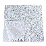 EXCEART 7 hojas de tela de algodón floral cuadrados de tela floral tela de acolchado para patchwork...