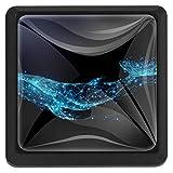 EZIOLY Starlight Whale Vector quadratische Küchengriffe Schränke Kommode Schrankknäufe Ziehgriffe 3 Stück