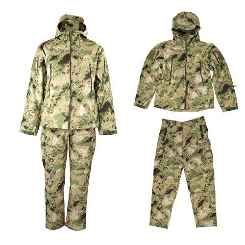 DAUERHAFT Traje de chaqueta, kit de traje resistente al viento, transpirable, traje de camuflaje compacto para la caza al aire libre (XL)