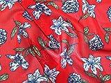 Minerva Crafts Chiffon-Stoff, knitterfrei, Meterware, Rot