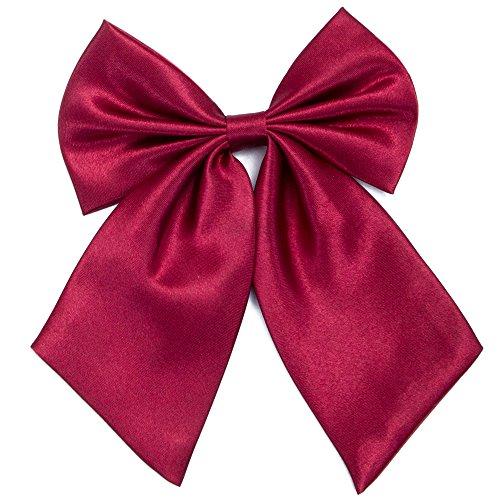 Damen Fliege Schleife Binder Schlips - 28~49 cm Länge Verstellbare Bowknot Krawatten (Dunkelrot)