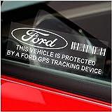 5x ppfordgps GPS Dispositivo de Seguimiento de Seguridad Ventana Pegatinas 87x 30mm-Car, Van Alarma Tracker