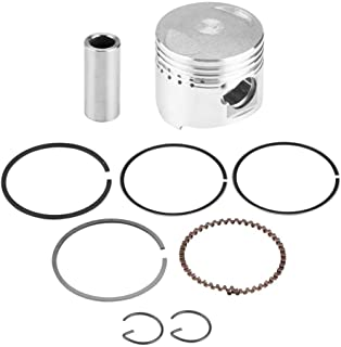 Qiilu Motorcycle Piston,  39mm Metal Piston Rings Kit Assembly Silver for GY6 50CC Horizontal Engine Scooter Moped Motorcycle