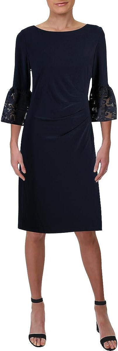 LAUREN RALPH LAUREN Konatta Women's Lace Bell Sleeve Cocktail Dress Navy Size 0
