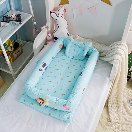 WJXBoos Baby Bassinet Für Bett, Baby-Liege, Atmungsaktiv & Hypoallergen Co-schlafendes Babybett, 100% Baumwolle Tragbare Krippe, 0-Monaten-h L 35.4×w 21.6×h 5.9 In