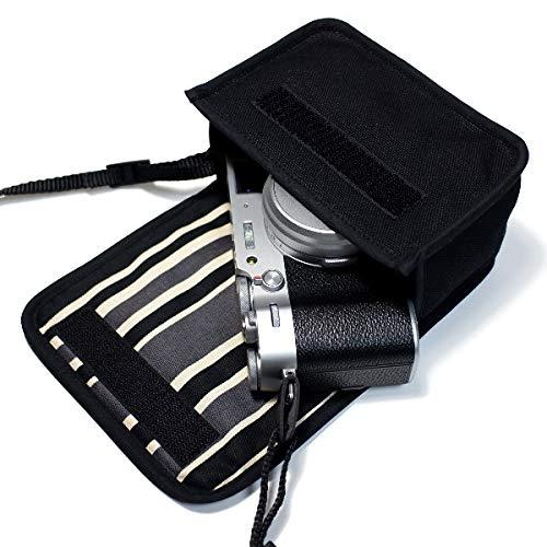 suono(スオーノ) FUJIFILM X100Vケース /X100Fケース(ブラック・カーボンストライプ)-ハンドメイド