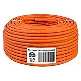 HB-DIGITAL - Cable de Red LAN (50 m, Cat. 7A, S/FTP, PIMF, LSZH, Libre de halógenos, RoHS, Cat7a, Cat. 7, Cable de Datos Ethernet, 10 Gbit, 1000 MHz, 10 GB)