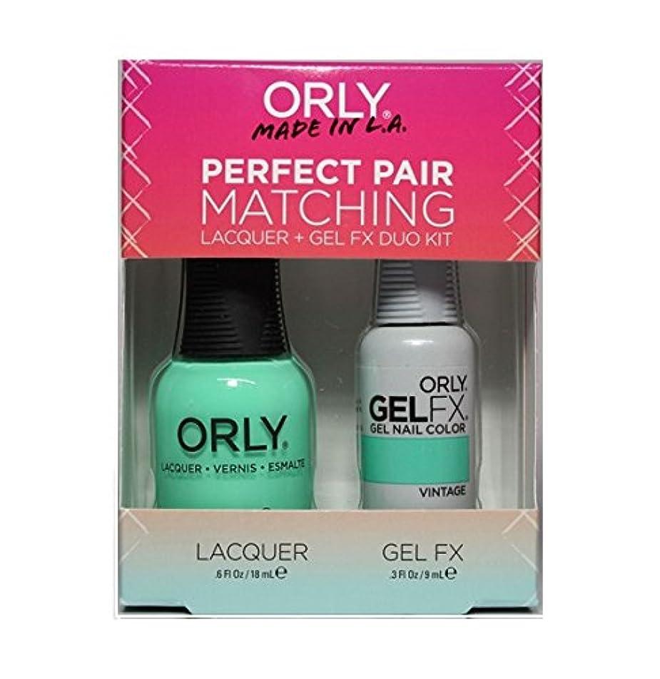 ジーンズ摂氏度最大Orly - Perfect Pair Matching Lacquer+Gel FX Kit - Vintage - 0.6 oz / 0.3 oz