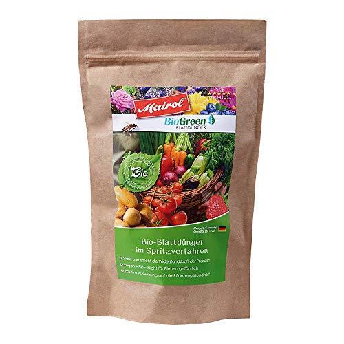 Mairol BioGreen 100% Bio Blattdünger im Spritzverfahren, Pulver 650 g mit Messlöffel