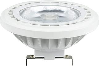 Bonlux 12V LED AR111 Spotlight G53 Base - 12W ES111 G53 COB LED Recessed Light (100W Halogen Bulb Equivalent) - 24°Beam Angle G53 LED Reflector Light, Track Light, Warm White 2700K (12V G53 Base)