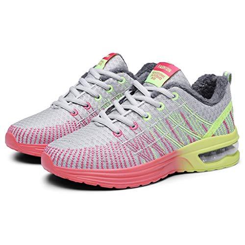 Women's sneakers Lo Sport Vrouwelijke lichtheid ademende loopschoenen op Strada A voeten jogging kussen luchtschoenen sportschoenen casual outdoor wandelschoenen (Color : Gray, Maat: 24)