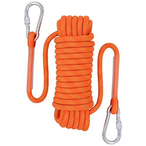 Fding Kletterseil, 12 mm Durchmesser, Outdoor- und Wanderzubehör, hohe Festigkeit, Seil, 10 m, 20 m, 30 m, Orange