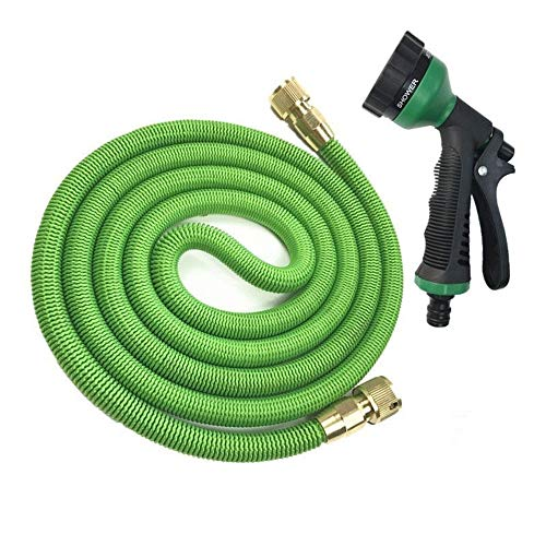 Expandable Garden Magic Hose Flexible Garden Waterslang High Pressure For Auto Tuinslang Plastic Slangen Om Watering Met Spray Gun (rood) (Color : Green, Size : 50ft)