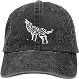 baowen Gorra de béisbol Organizador Gorra de Mezclilla Howling Lone Wolf Gorra de béisbol para papá Deportes...