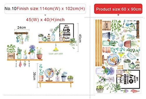4 tipos de hoja verde dormitorio pared pegatinas Sala Comedor bricolaje pared del vinilo de la puerta…