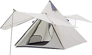 YZDKJDZ Torn post klocka tält tipi-tält för vuxna 3–4 personer familj campingtält, dubbellager fest familjemememester, mys...