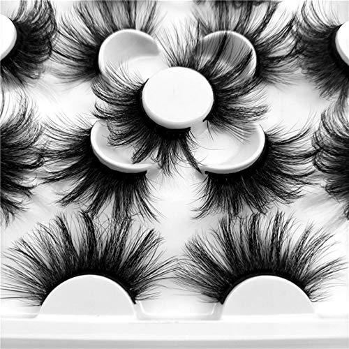 AleXanDer1 Fake eyelashs 2PC 5/7Pairs 25mm Soft Fluffy 3D Mink False Eyelashes Dramatic Long Wispies Lash Extension Natural Volume Beauty Handmade Eye Makeup (Color : KS075 25mm)