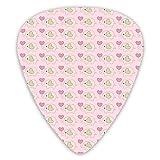 12 púas de guitarra, patrón de tartán con corazones de San Valentín colroful Premium ambientales ABS púas para guitarras