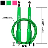 iheartsynergee Pink Speed Rope - (2) Adjustable 10 Ft Cable - Steel Ball Bearings - for Crossfit, MMA, Boxing & Fitness