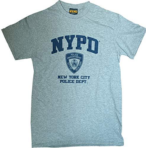 NYC FACTORY NYPD T-Shirt, kurzärmelig, Marineblau, Logo, Grau Gr. XL, grau