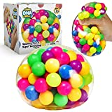 YoYa Toys The Original Jumbo DNA Ball | Colorful Fidget Squeezing Stress Relief Ball for Adults & Kids | Our Unique Rubber Squishy Toys are Great for Stress, Anxiety, Bad Habits & More