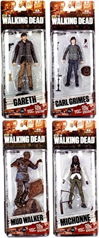 minoristas en línea McFarlane Juguetes The Walking Dead AMC TV Series Series Series Series 7 Mud Walker, Cochel Grimes, Michonne & Gareth 6  Acción Figuras by Walking Dead  centro comercial de moda