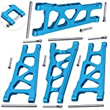 4-Pack HobbyPark Aluminum Suspension Arms Set (Front & Rear), Replacement of 3655x for RC Traxxas 1/10 Slash 4x4 XO-1 Upgrade Parts