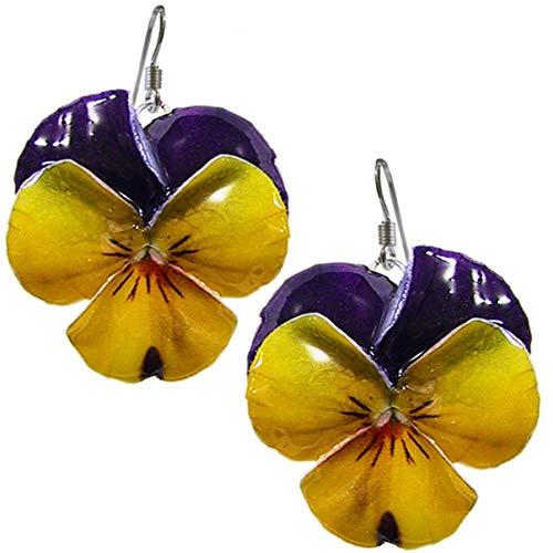 BRACCIALE VIOLETTE realizzato artigianalmente con violette e foglie serigrafate in smalti a cottura