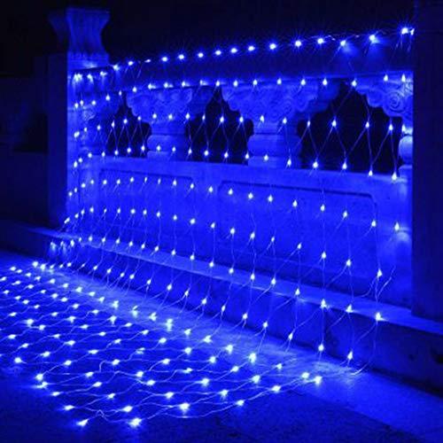 FEFCK Blaue Fee Wasserdicht Lichternetz LED Multi-Größe Flashing Weihnachtsbaum Lichterketten 8 Moduseinstellung 4x6m/868Leds