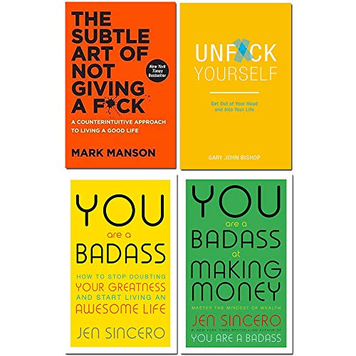 Price comparison product image Subtle art of not giving a fck [hardcover],  unfck yourself,  you are a badass,  you are a badass at making money 4 books collection set