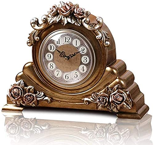 Soporte Reloj Reloj De Mesa Vintage Retro Decoración De Sala De Estar Dormitorio Relojes De Escritorio Funciona Con Pilas Silencioso Sin Tictac Interior Creativo Decorativo Reloj Rosa Reloj Creativ