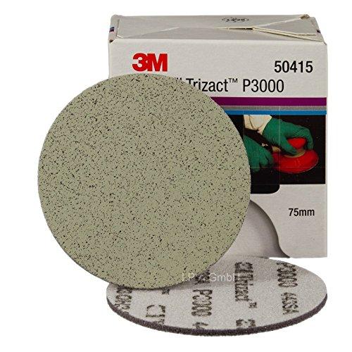 3M Hookit Trizact Feinschleifscheiben P3000 Ø 75mm 50415- 5 Stück