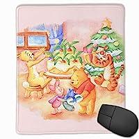 マウスパッド面白いくまのプーさんのクリスマス防水、洗える、耐久性、滑り止めオフィスラグジュアリーラグジュアリーラグジュアリーキュート25x30x0.3cm